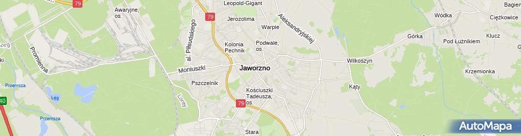 Zdjęcie satelitarne Teatr Sztuk w Jaworznie