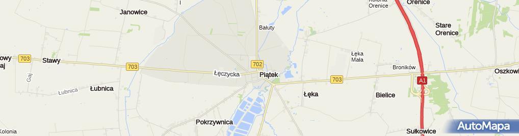 Zdjęcie satelitarne Geometryczny środek Polski