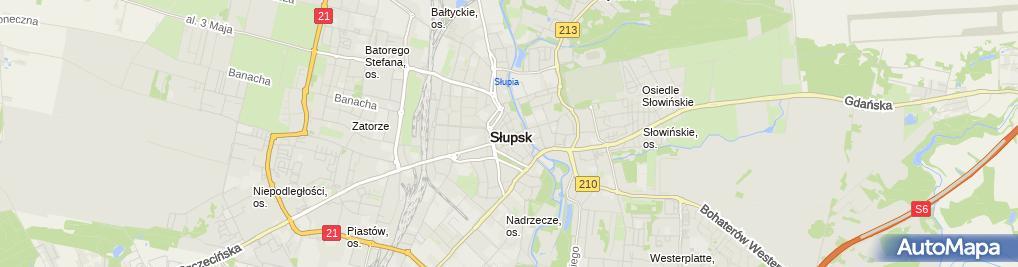 Zdjęcie satelitarne Kamieniczki
