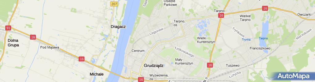 Zdjęcie satelitarne Zegar słoneczny