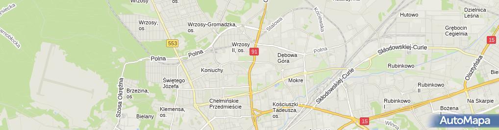 Zdjęcie satelitarne Komunalny nr 2 Im. Ofiar II Wojny Światowej