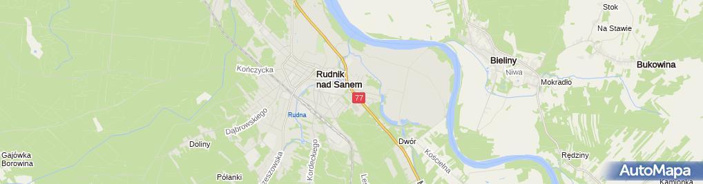 Zdjęcie satelitarne Parafialny w Rudniku nad Sanem