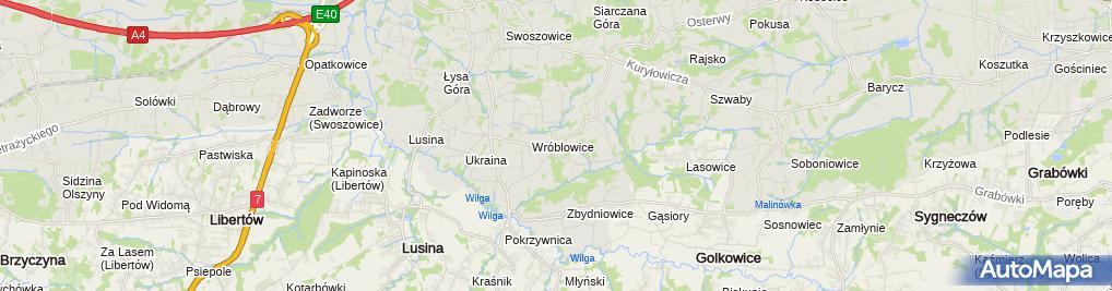 Zdjęcie satelitarne Parafialny Wróblowice-Swoszowice