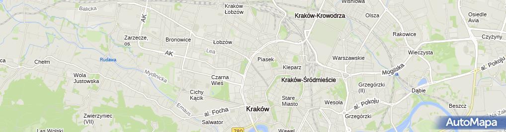 Zdjęcie satelitarne BIURO wirtualne 29 - Kraków