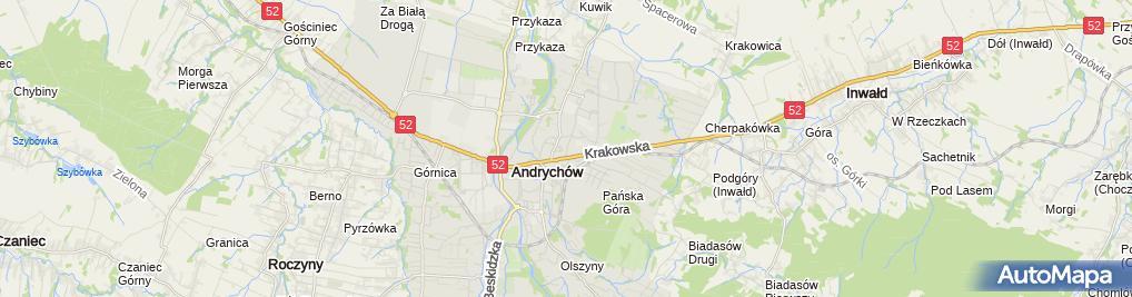 Zdjęcie satelitarne Gałuszka