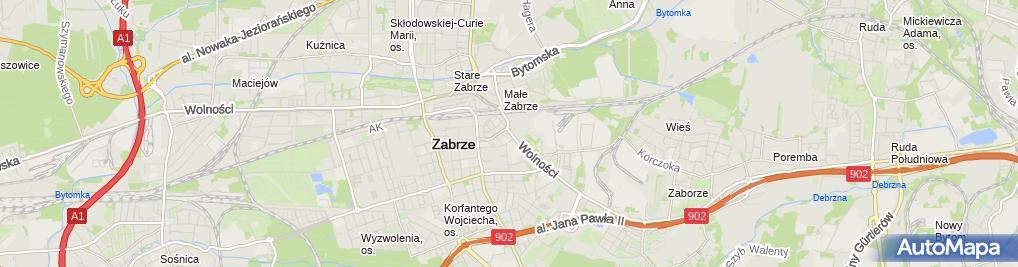 Zdjęcie satelitarne DOZ Apteka Zabrze