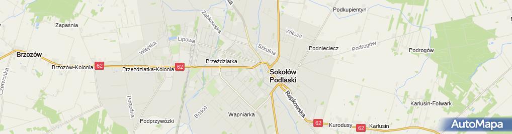 Zdjęcie satelitarne Dąbrowski Ś., Głowacz A. Przychodnia stomatologiczna