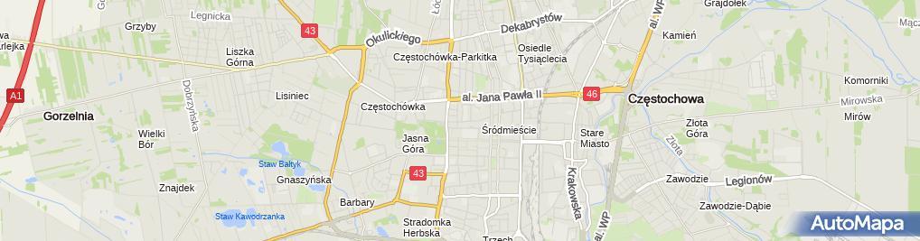 Zdjęcie satelitarne Gabinet Stomatologiczny Lek.Stom. Piotr Kuźnik