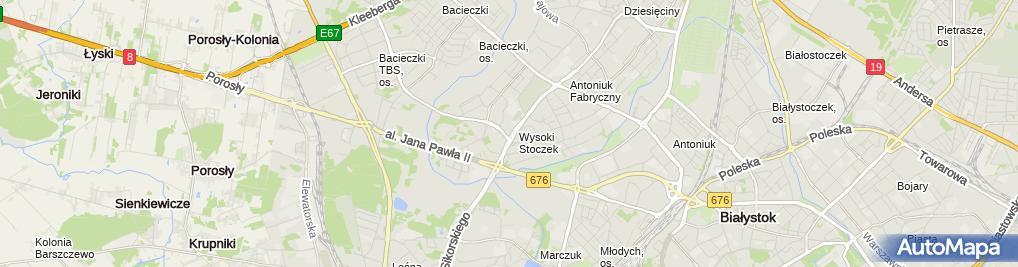 Zdjęcie satelitarne Hościłowicz Stomatologia