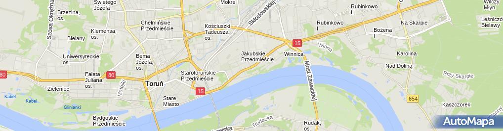 Zdjęcie satelitarne Implanty Toruń