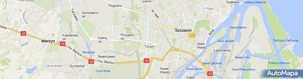 Zdjęcie satelitarne Indywidualna Praktyka Stomatologiczna Lekarz Dentysta Natalia Szklarska- Uścinowicz