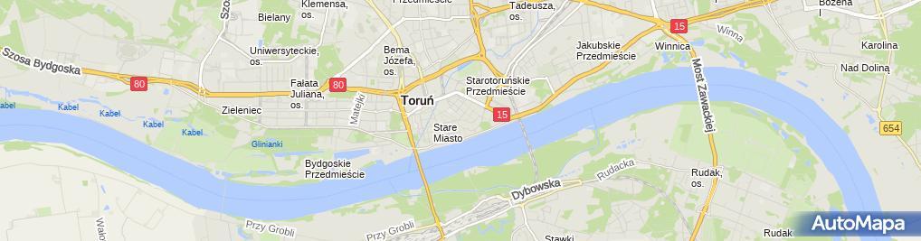 Zdjęcie satelitarne Manowski Zbigniew Gama Toruńskie Przedsiębiorstwo Handlowo Produkcyjne Gamadent Centrum Stomatologii i Protetyki