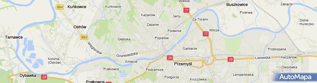 Zdjęcie satelitarne Michał Wojcieszko Gabinet Stomatologiczny