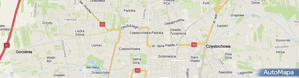 Zdjęcie satelitarne Poradnia Stomatologiczna Dentlamed