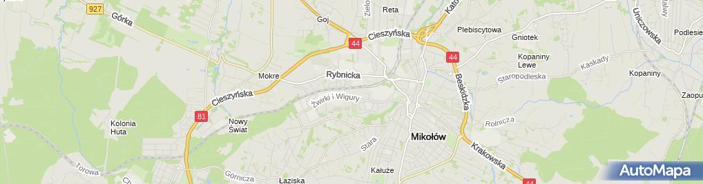 Zdjęcie satelitarne Stomatologia Cichanowicz Anna Cichanowicz Mariusz Cichanowicz