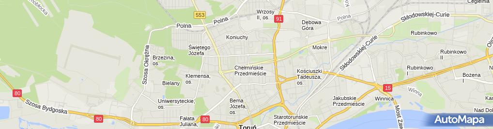 Zdjęcie satelitarne TBZ dentysta