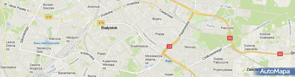 Zdjęcie satelitarne Oddział