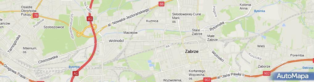 Zdjęcie satelitarne Inter-Car Zabrze