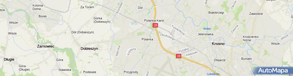Zdjęcie satelitarne Dom Ludowy Krosno - Polanka