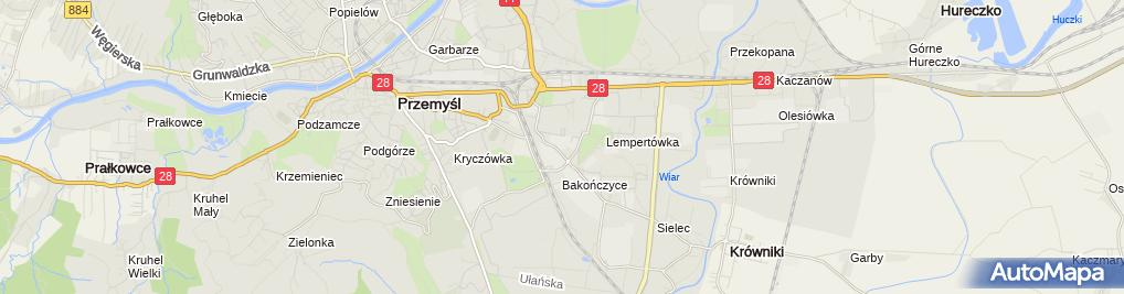 Zdjęcie satelitarne Opiekuńczo Leczniczy