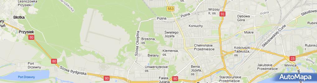 Zdjęcie satelitarne Zespół Opieki Paliatywnej, Hospicjum Światło