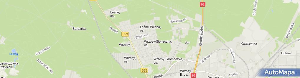 Zdjęcie satelitarne Biuro Doradztwa Podatkowego Lidia Sarnecka