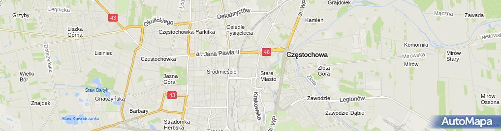 Zdjęcie satelitarne Andrzej Szczepańczyk Drukarnia Usługowa Gryf