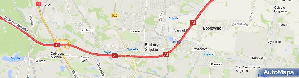 Zdjęcie satelitarne Matura Śląska Wytwórnia Pieczątek i Drukarnia Gaweł Matura