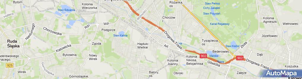 Zdjęcie satelitarne Chorzów Batory (stacja kolejowa)