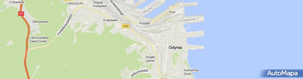 Zdjęcie satelitarne Gdynia Główna