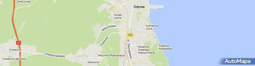 Zdjęcie satelitarne Gdynia Wzgórze Maksymiliana