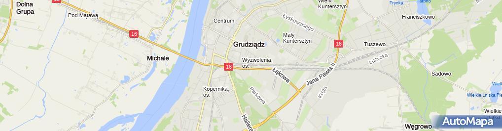 Zdjęcie satelitarne Grudziądz