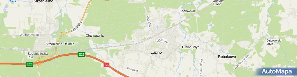 Zdjęcie satelitarne Luzino