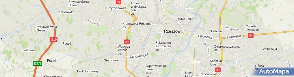Zdjęcie satelitarne Rzeszów Staroniwa