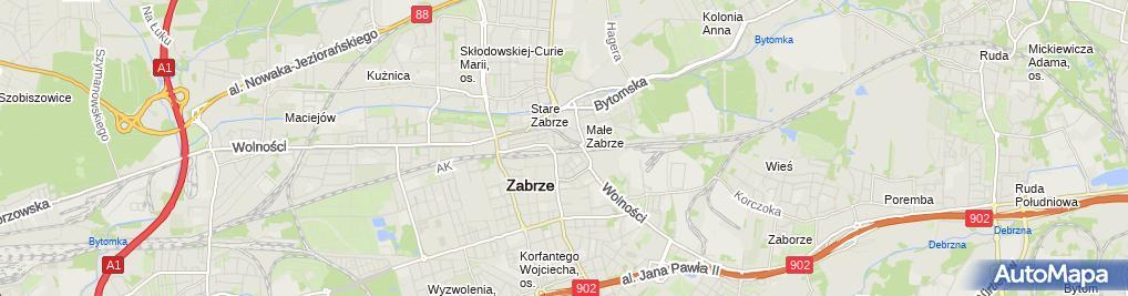 Zdjęcie satelitarne Zabrze