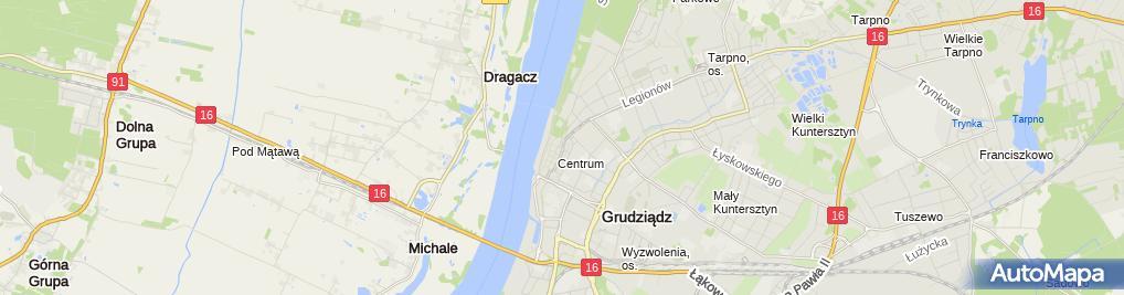 Zdjęcie satelitarne chmurka Grudziądz