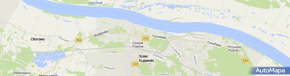 Zdjęcie satelitarne F.H.U. JU-WI Sylwia Miłek