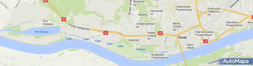 Zdjęcie satelitarne Toy Planet (CH Toruń Plaza)