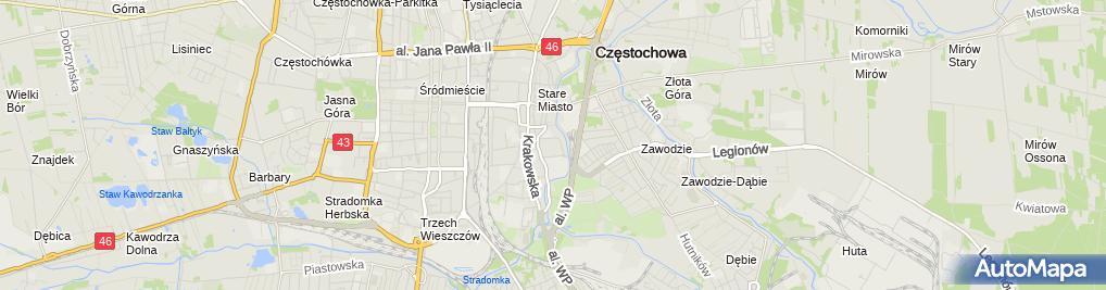 Zdjęcie satelitarne Sony Centre Częstochowa