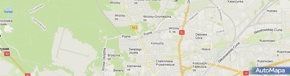 Zdjęcie satelitarne ITECH Maciej Łuczyński