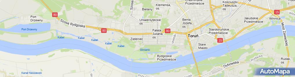 Zdjęcie satelitarne Przedsiębiorstwo Usługowo Handlowe Synapsa