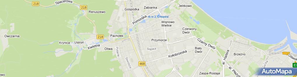 Zdjęcie satelitarne Body Line