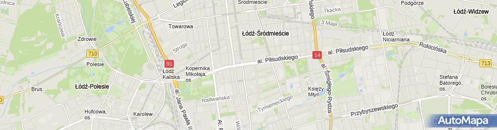 Zdjęcie satelitarne Gymnasion Fitness club.