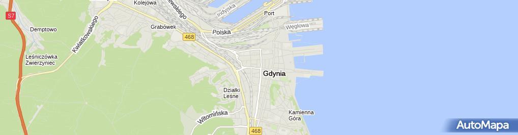 Zdjęcie satelitarne Lady Fitness Gdynia Sp.c.
