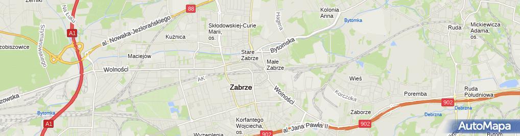 Zdjęcie satelitarne Fortuna - Zakład bukmacherski