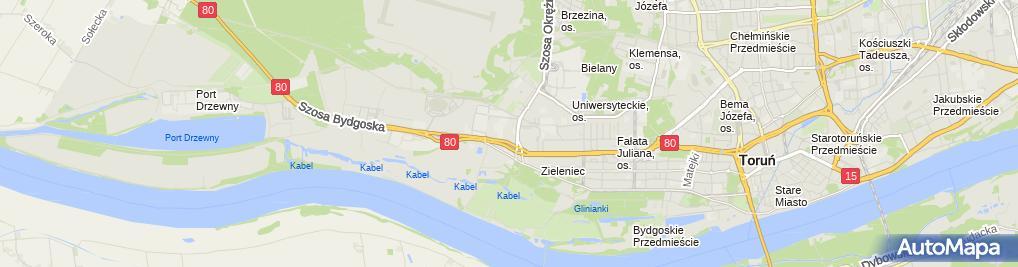 Zdjęcie satelitarne Fort IX Twierdzy Toruń im. Bolesława Chrobrego