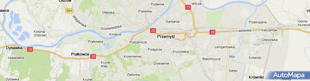 Zdjęcie satelitarne Fortyfikacja