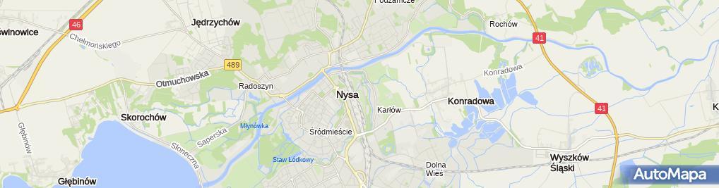 Zdjęcie satelitarne Twierdza Nysa