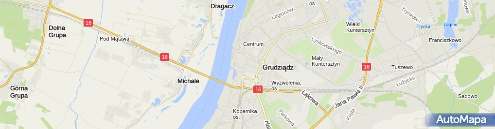 Zdjęcie satelitarne Zajazd U Hani Sklep Myśliwski Wiarus