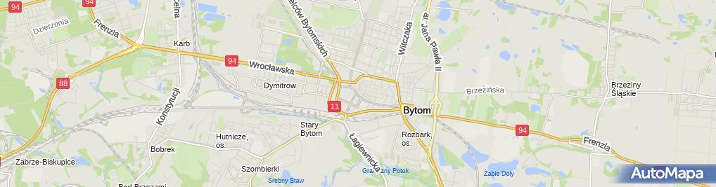 Zdjęcie satelitarne Barbara Żabińska Firma Fryzjersko Kosmetyczna R N B
